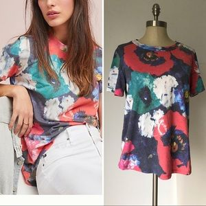 Sol Angeles for Anthro floral tee t-shirt Large